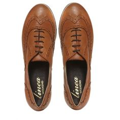 Linea Macon Brogue Lace Up Shoes Tan - House of Fraser