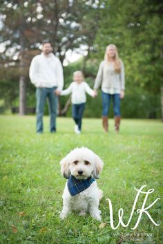 Great family portrait with the pup!