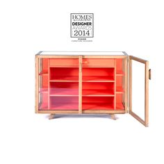 case furniture vitrina small sideboard orange hierve 001a