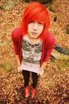 Orange emo hair | Emo Boy With Orange Hair Emo boy. via eva kernan