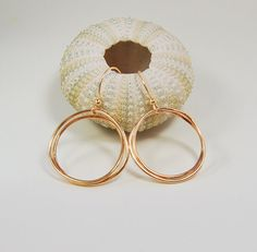 Gold Circle Vine Earrings . Smaller Size by MalibuJewel on Etsy, $88.00