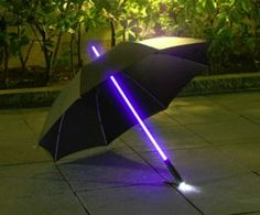 Lightsaber umbrella - Hell Yes!