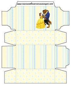 Cajitas imprimibles de la Bella y la Bestia. Fiestas infantiles. Beauty And The Beast Party, Belle Beauty And The Beast, Paper Gift Box, Party Printables, Ideas Para, Kids Rugs, Baby Shower, Gifts, Grandkids