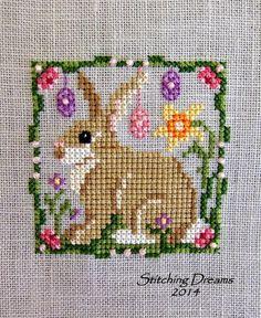 Cross Stitch spring pattern bunny