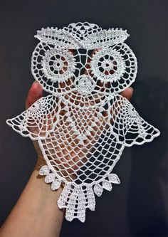 I created step-by-step tutorial for this crochet owl. It comprises of 12 parts. Here is the listing for all of them. Crochet Owl Tutorial Part 2 Crochet Owls, Crochet Art, Filet Crochet, Crochet Gifts, Crochet Motif, Crochet Doilies, Crochet Flowers, Crochet Stitches, Crochet Butterfly