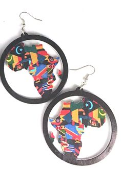 Colors of Africa earrings.  Available at http://www.EthnicEarring.com
