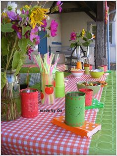 Summer + country + 70s birthday party # © made by iSa
