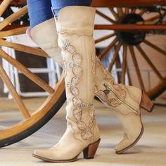 Free worldwide shipping on order over $79. Western Boots, Western Wear, Cowboy Boots, Western Style, Cactus Boots, Cream Boots, Wedding Boots, Blue Wedding, Dream Wedding