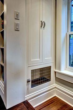 Dog pen ideas kitchen craftsman with window above stairs open shelves window above stairs