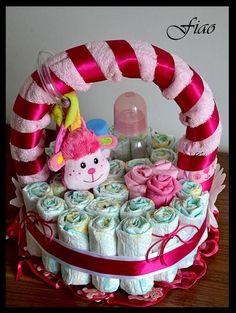 Baby Gift Baskets on Modern Magazin Homemade Baby Gifts, Diy Baby Gifts, Craft Gifts, Baby Shower Gift Basket, Baby Shower Gifts, Baby Shower Parties, Baby Showers, Diy Crafts For Kids, Fun Crafts