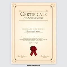 Best Printable Certificates Free & Premium Templates 2018 Collection - Certificates are records of our hard-earned achievement. Certificate Of Participation Template, Certificate Design Template, Receipt Template, Printable Certificates, Award Certificates, Frame Template, Certificate Background, Certificate Frames, Certificate Of Appreciation