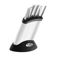 GLOBAL Synergy 7 Piece Knife Block (Stainless Steel) The Global Synergy Knife Block Set brings you six knives in one! Made of CroMoVa 18 stainless steel, with a double ground edge, this Global Knife Block set represents the superior manufacturin Global Knife Set, Global Knives, Knife Block Set, Knife Sets, Wusthof Knives, Cooks Knife, Foyer Design, All Stainless Steel, Utility Knife