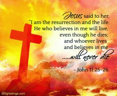 Download HD Christian Bible Verse Greetings Card & Wallpapers Free: Jesus - Resurrection and Life