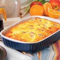 Cheddar-Ham Oven Omelet Recipe by Taste of Home