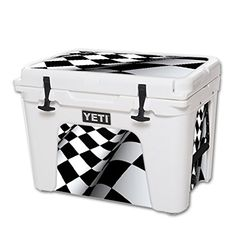 MightySkins Protective Vinyl Skin Decal for YETI Tundra 50 qt Cooler wrap cover sticker skins Checkered Flag ** You can find out more details at the link of the image.(This is an Amazon affiliate link and I receive a commission for the sales)