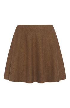 Primark - Camel Knitted Skater Skirt