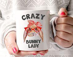 Crazy Bunny Lady Mug by CrazyBunnyLadyShop on Etsy