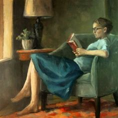 Reading and Art: Sylvie Vanlerberghe How To Read People, Book People, Reading Art, Woman Reading, Chef D Oeuvre, Oeuvre D'art, Image Avatar, Book Images, Book Girl