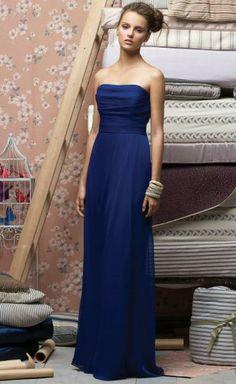 a line Online Golv Längd brudtärna klänning