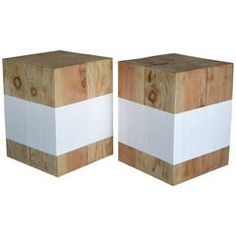 Reclaimed Wood Cube Stools or Tables