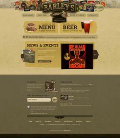 Examples of retro website designs