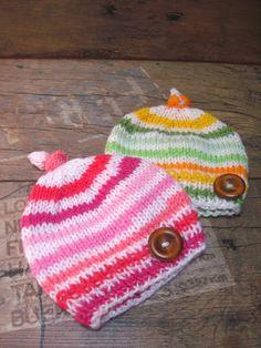 Twins baby hat, Twins Newborn Hat, boy and girl Hat, Knit Newborn hat, Photo prop, Baby hat, READY TO SHIP