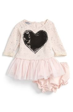 Pippa & Julie Sequin Heart Tulle Ruffle Dress (Baby Girls) available at #Nordstrom