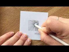 Zentangle - 10 Muster im Zeitraffer #4 - YouTube