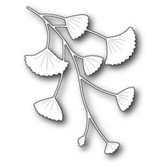 Poppy Stamps Stanzschablone - Gingko Branch