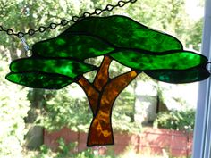 Stained Glass Tree of Life /  african savannah tree by Trish York: http://www.outbid.com/auctions/14859-night-owl-s-marketplace#22-5/8/13-10pmMST