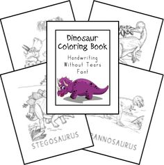 Free Creation Based Dinosaur Unit Study uses Handwriting without tears font