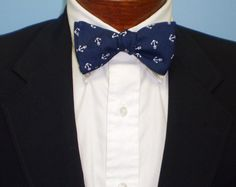 Navy Anchor Bow Tie by BarryBeaux on Etsy, $45.00