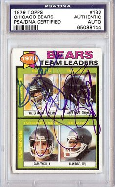 Walter Payton & Others Autographed 1979 Topps Card PSA/DNA #65088144