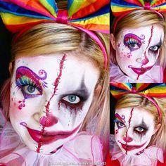 #makingfacesandtutus; happy/evil clown