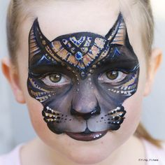 Check out this inspiring Children's Makeup For Halloween by New Zealand artist Christy Lewis and her Daizy Design Face Painting. Adorable animals and more. Egyptian Makeup, Egyptian Cats, Animal Face Paintings, Animal Faces, Maquillage Halloween, Halloween Makeup, Halloween Crafts, Childrens Makeup, Cool Face Paint