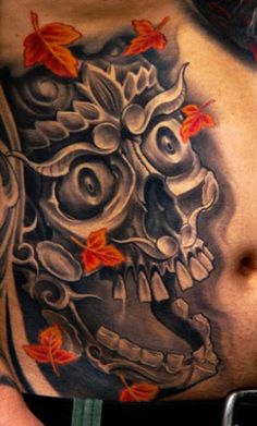 Realism Skull Tattoo by Victor Portugal