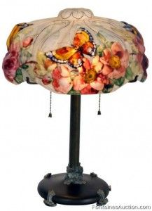 Pairpoint Puffy Papillon Table Lamp