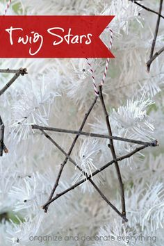 Make natural twig stars to add to your Christmas decor