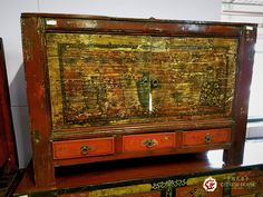 ✨✨ ตู้ ศิลปะชิงไห่ ✨✨ ขนาด: กว้าง 115 ลึก 43 สูง 74 ซม. ✔ Product: Qinghai-Style Cabinet ✔ Dimensions: Width 115 x Depth 43 X Height 74 (cm.)