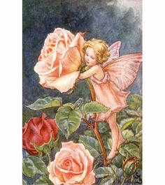 Rose Fairy Vintage Wall Art