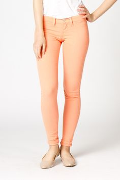 Apricot Skinny Jeans, these would be cute paired with white or black, or many other colors