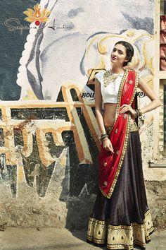 Popping dupatta - Bombay Eclectic Collection 2014-Editorial Photoshoot « Sapana Amin. Visit sapanaamin.com