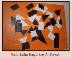 mlk jr. meets matisse   Wouldn't it be terrible? Wouldn't it be sad?  If just one single color was the color that we had?  If everything was purple? Or red? Or blue? Or green?  If yellow, pink, or orange was all that could be seen?  Can you just imagine how dull the world would be  If just one single color was all we got to see? Preschool Winter, Preschool Crafts, Kid Crafts, Jr Art, Kids Learning Activities, Teaching Ideas, Holiday Crafts For Kids, Holidays With Kids, King Jr