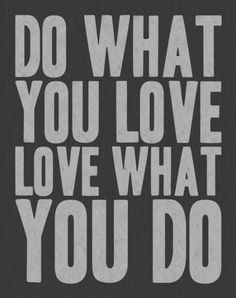 Do What You Love Love What You DO Art Print, quote wall art, word art, quote print, black & white typography poster, quote poster