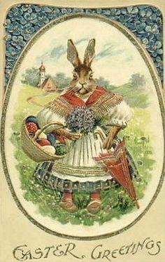 vintage easter rabbit - Google Search