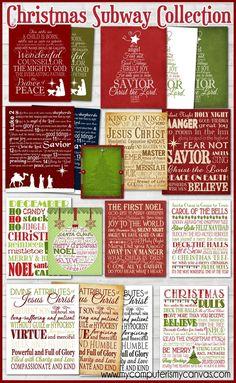 Christmas Subway Art, Christmas Art, All Things Christmas, Christmas Holidays, Christmas Bulbs, Christmas Decorations, Christmas Ideas, Christmas Graphics, Holiday Decorating