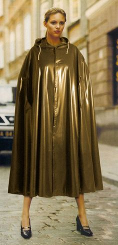 Gold PVC Hooded Cape