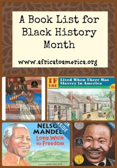 A book list for Black History month from @Carly @ Africa to America