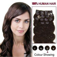Dark Brown( Clip In Remy Human Hair Extensions. Micro Loop Hair Extensions, Hair Extensions For Short Hair, Human Hair Clip Ins, 100 Human Hair, Track Hairstyles, Natural Hair Styles, Short Hair Styles, Low Maintenance Hair, Soft Hair