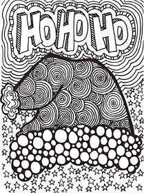 abstract doodles free christmas doodles to color